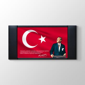 Atatürk - Türk Bayrağı Makam Arkası Tablosu
