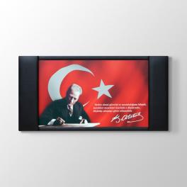 Atatürk Deri Çerçeveli Makam Tablosu