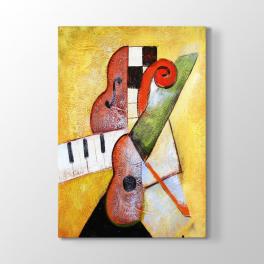 Soyut Piyano ve Keman Tablosu