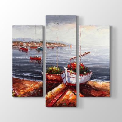 Çiçekli Tekneler Tablosu