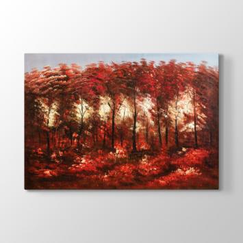 Bordo Ağaçlar Tablosu