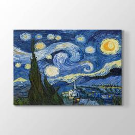 Vincent van Gogh - Yıldızlı Gece Tablosu