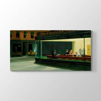 Edward Hopper - Gece Kuşları Tablosu