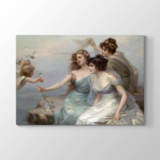 Edouard Bisson - Üç Güzeller Tablosu