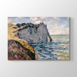 Claude Monet - Etretat Kayalıkları Tablosu