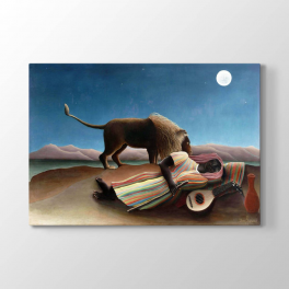 Henri Rousseau - Uyuyan Çingene Tablosu