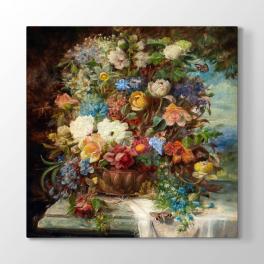 Hans Zatzka - Çiçek Buketi Tablosu