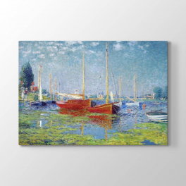 Claude Monet - Kırmızı Yelkenli Tablosu