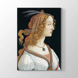 Sandro Botticelli - Genç Kadın Portresi Tablosu