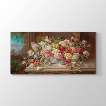Hans Zatzka - Çiçekler Tablosu