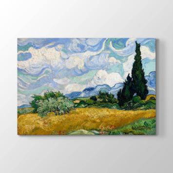Vincent van Gogh - Selvili Buğday Tarlası Tablosu