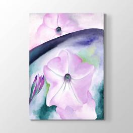 Georgia O Keeffe - Pembe Çiçek Tablosu