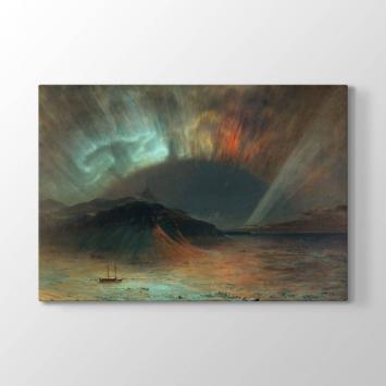 Frederic Edwin Church - Kuzey Işıkları Tablosu