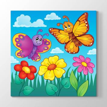 Renkli Kelebekler Tablosu