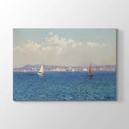 Fausto Zonaro - Deniz Manzarası Tablosu