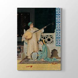 Osman Hamdi Bey - İki Müzisyen Kız Tablosu