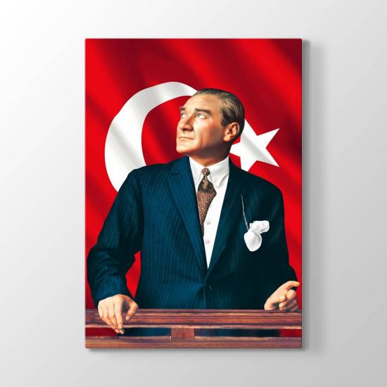 Atatürk Türk Bayrağı Tablosu