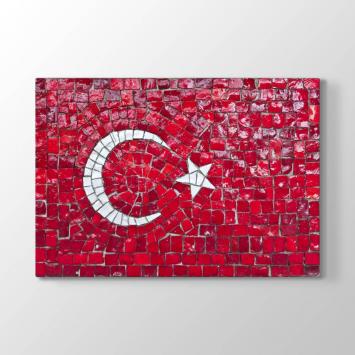 Türk Bayrağı Mozaik Taşlar Tablosu