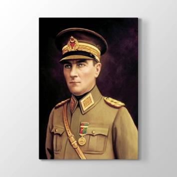 Askeri Üniformalı Atatürk Tablosu