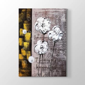 Dekoratif Çizim Çiçek Tablosu