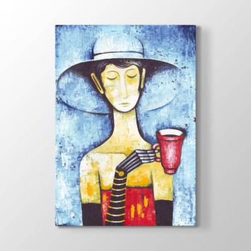 Kahve İçen Kadın Tablosu