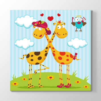 Sevimli Zürafalar Tablosu
