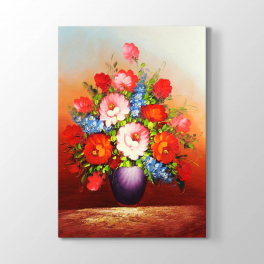 Mor Vazodaki Çiçekler Tablosu