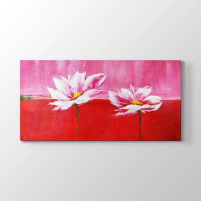 Dekoratif Beyaz Çiçekler Tablosu