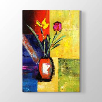 Sanatsal Çiçek Tablosu
