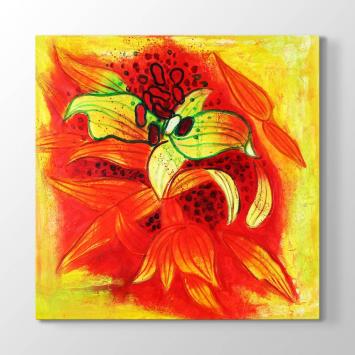 Soyut Çizim Çiçek Tablosu
