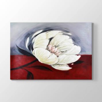 Beyaz Çiçek Tablosu