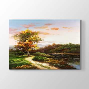 Ağaç Manzara Tablosu