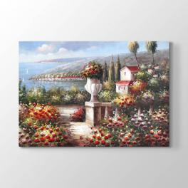 Çiçekli Bahçe Tablosu