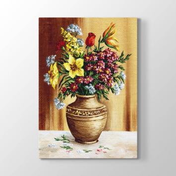 Natürmort Çiçekler Tablosu