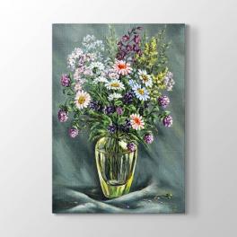 Natürmort Çiçekler Çizim Tablosu