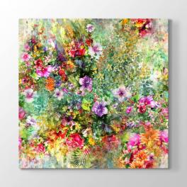Renkli Çiçek Tasarımı Tablosu