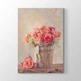 Sepet İçinde Çiçekler Tablosu