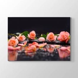 Pembe Güller Natürel Mum Tablosu