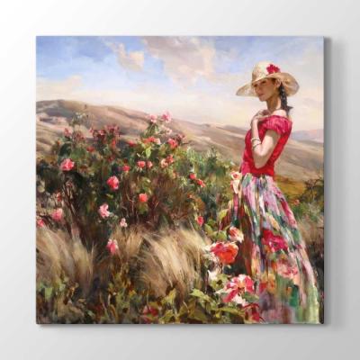 Çiçekler ve Kadın Tablosu
