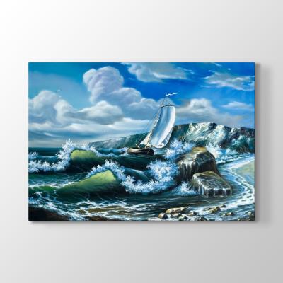 Mavi Deniz Dalgalar Tablosu