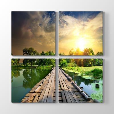 Göl Üzerinde Tahta Köprü Tablosu