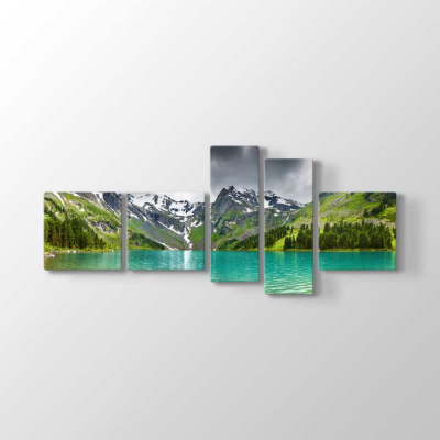 Göl ve Vadi Manzarası Tablosu