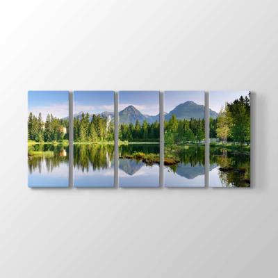 Göl ve Orman Manzarası Tablosu