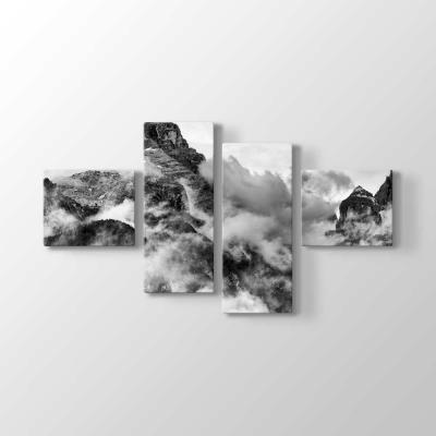 Sisli Dağ ve Vadi Manzara Tablosu
