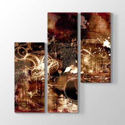 Kahverengi Soyut Tasarım Tablosu