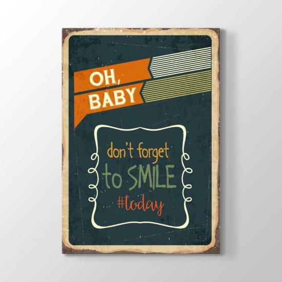 Bugün Gülmeyi Unutma Tablosu