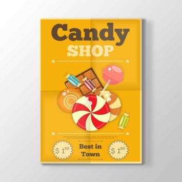 Şeker Dükkanı Afiş Tablosu