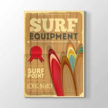 Sörf Ekipmanları Afiş Tablosu