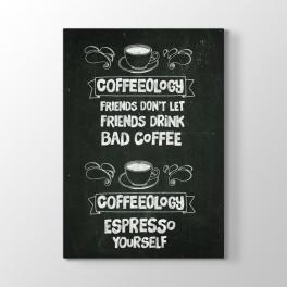 Siyah Tahta Espresso Yazısı Tablosu