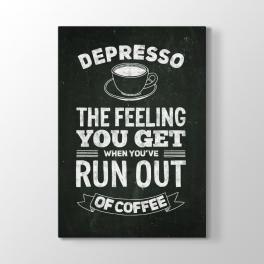 Siyah Tahta Depresso Yazısı Tablosu
